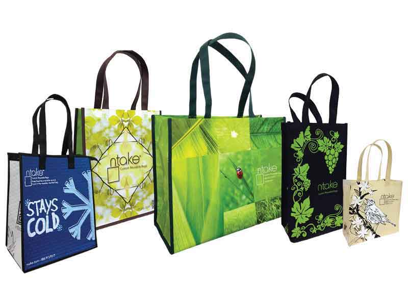 N Take Custom Reusable Bags Various Sizes