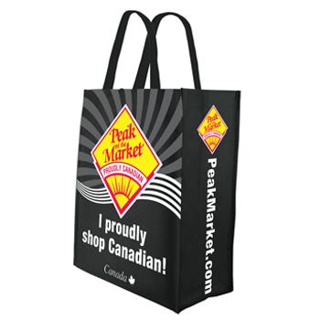 Custom Reusable Shopping Bags - Add Your Logo - Go Green