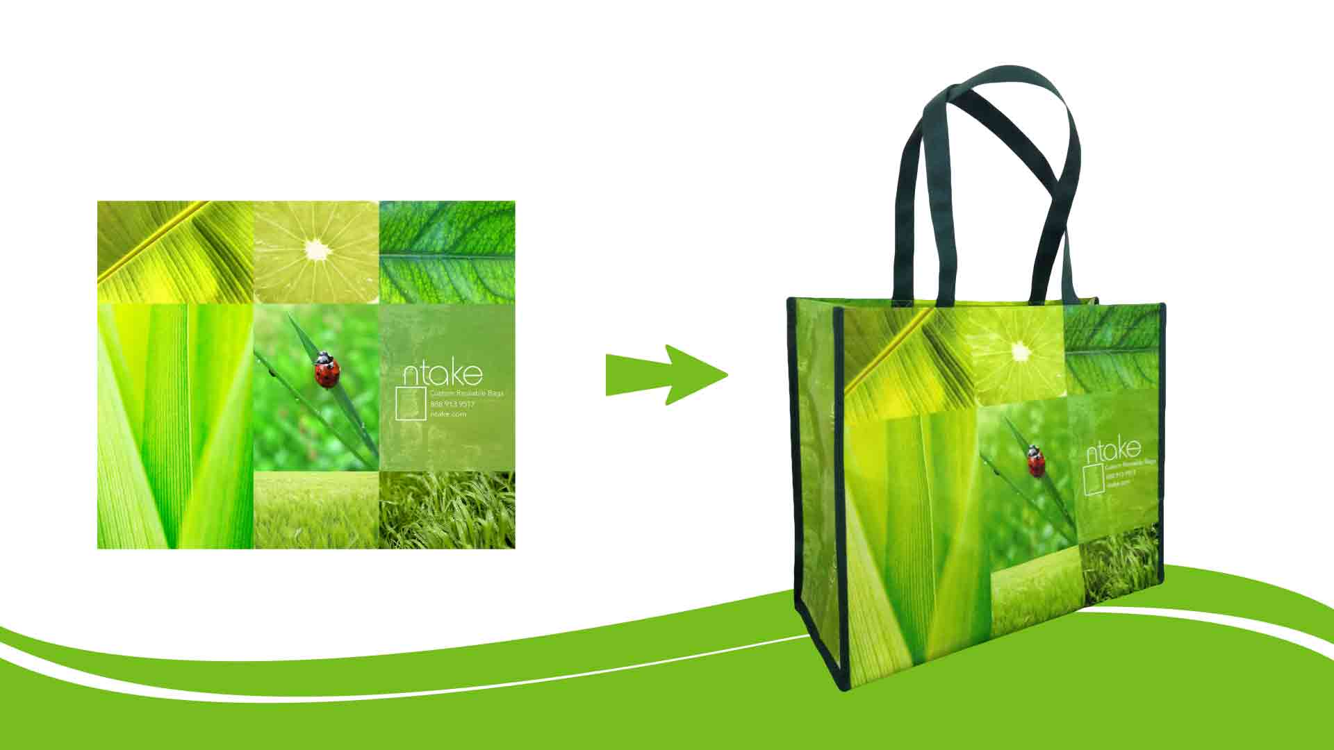 Custom Reusable Shopping Bags - Material Options - Add Your Logo ...